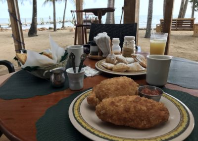 Belizian Beignets. Best breakfast we've had so far!