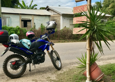 We have been LOVING family trips on the motorcycle.