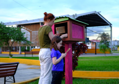 Free Little Library: You can take and leave books for people to use.