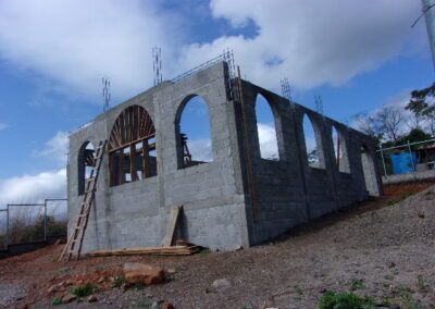 Anglican church being built
