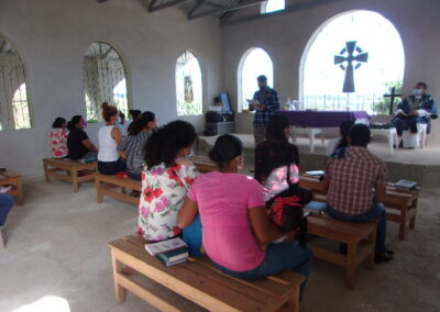 families in the Anglican church service