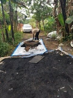 briquettes business working in nature